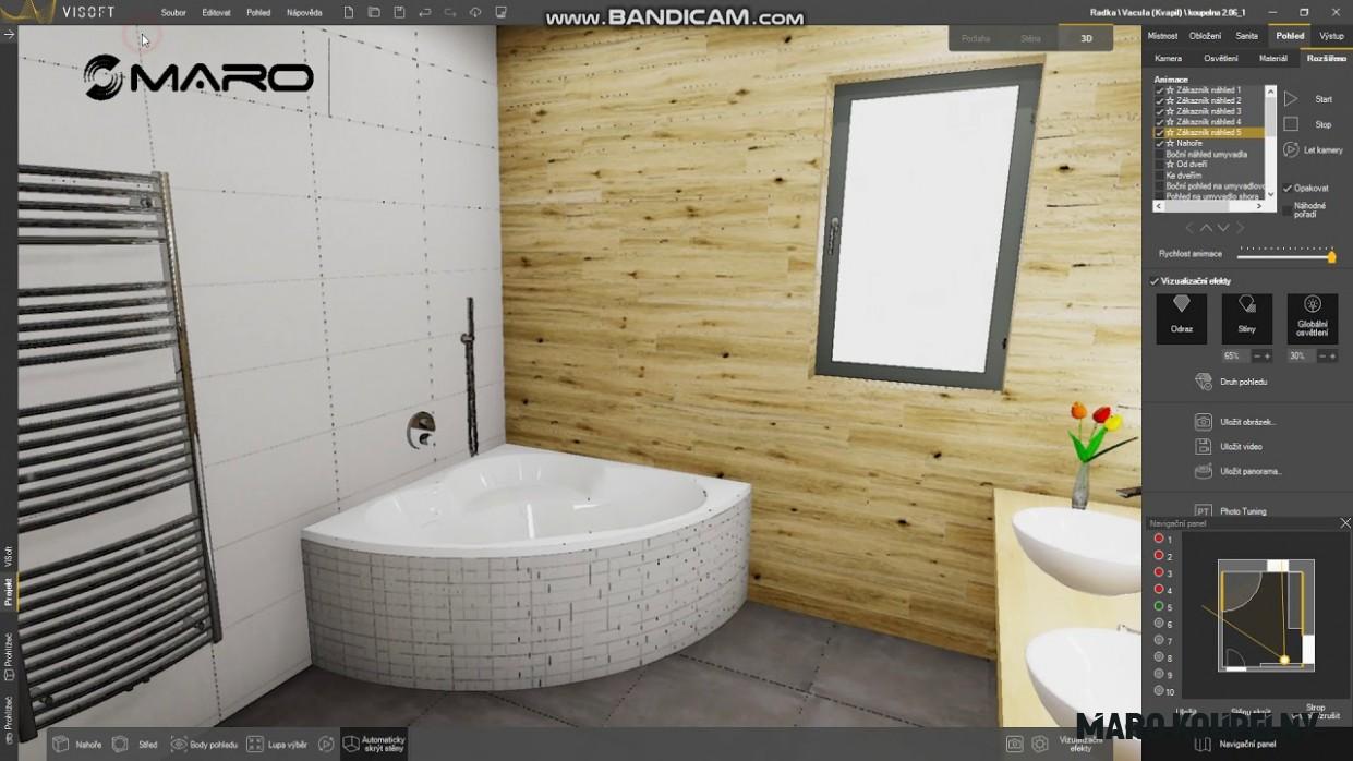 MARO 5D vizualizace koupelny