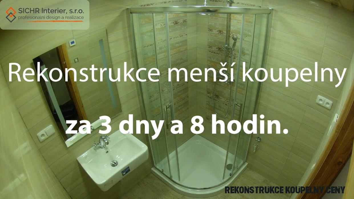 Rekonstrukce koupelny za cenu 18 18 Kč?  ChytryHonza.cz