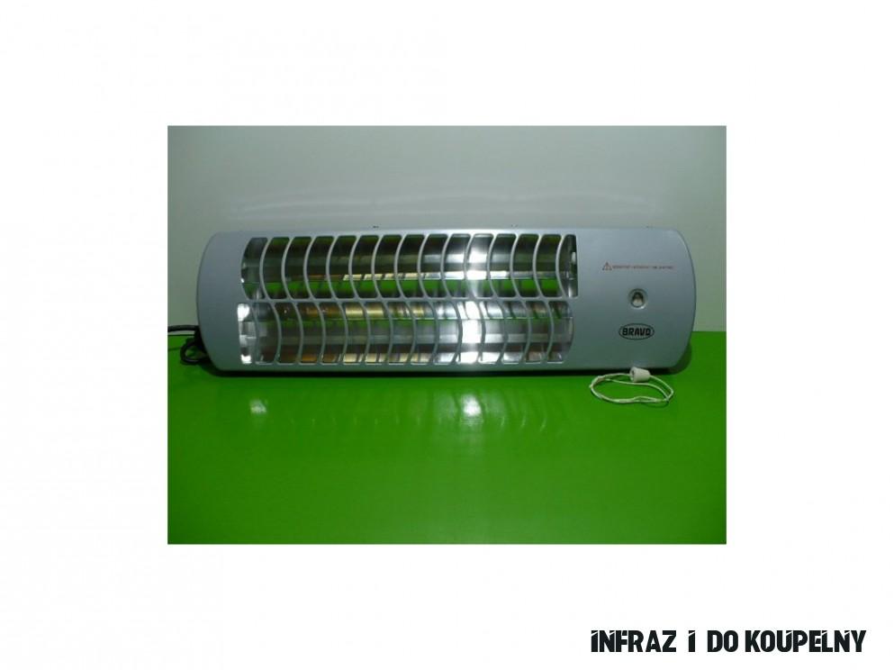 Infrazářič /topidlo/ do koupelny Bravo B-200 200W se šňůrkou 20 trubice -  ELEKTROCENTRUM