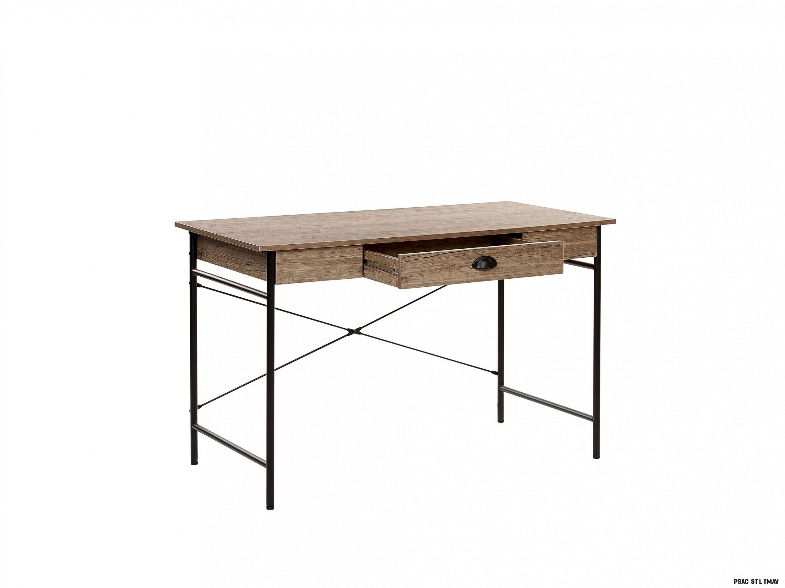 Psací stůl COSTO (7 x 7 cm) (MDF) (tmavé dřevo)  HezkýNábytek.cz