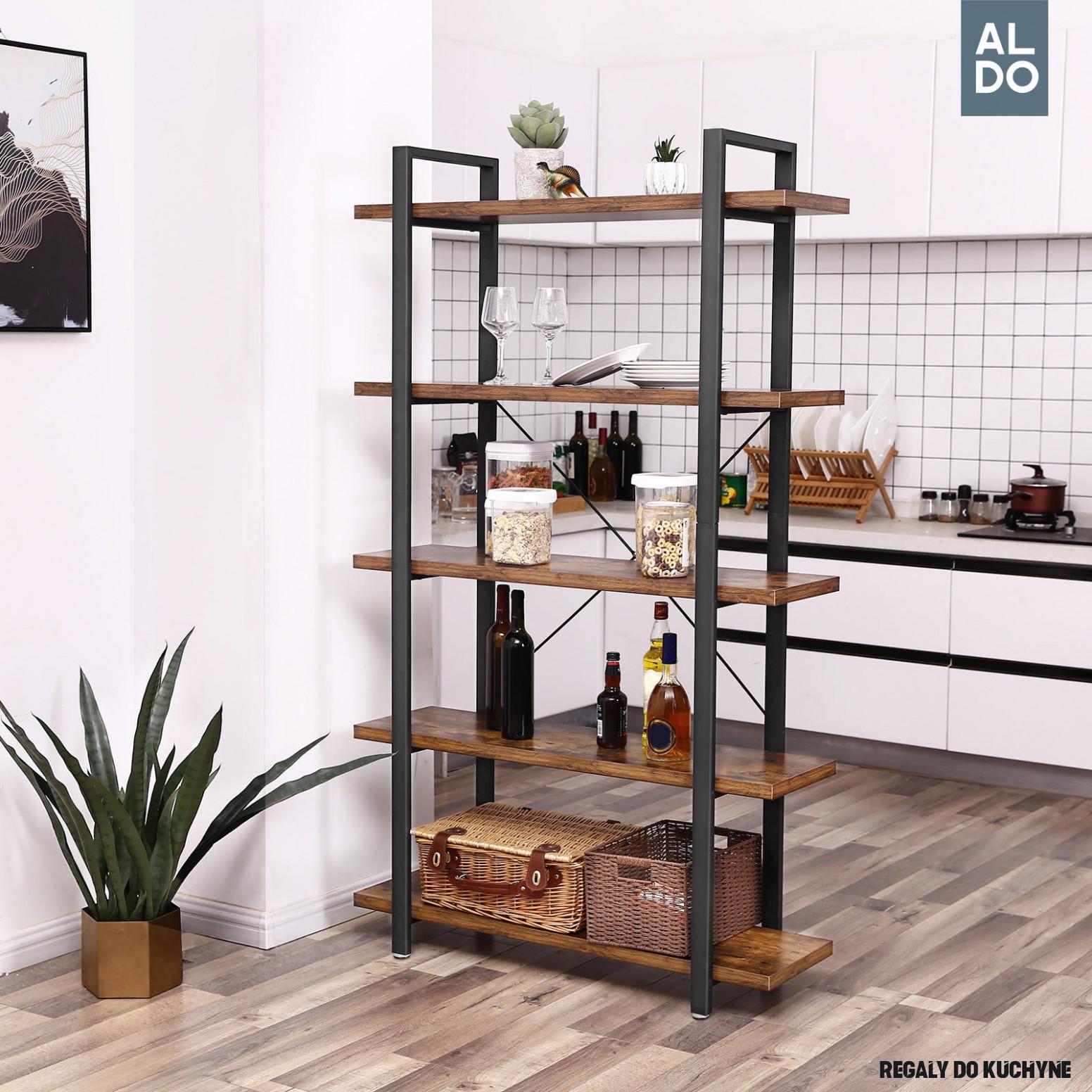 Industriálny dizajn, regál Storage rustic