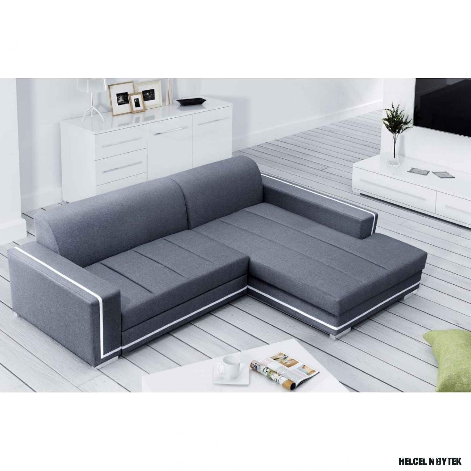 Moderní rohová sedačka Marina, šedá Roh: Orientace rohu Levý roh HELCEL