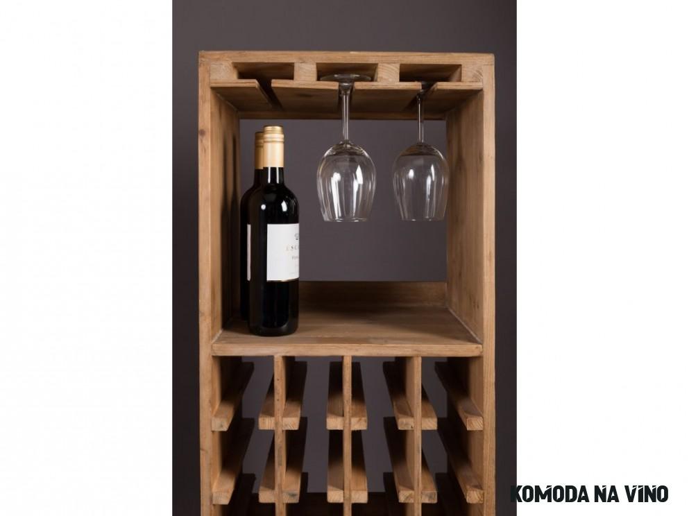 Masivní jedlová komoda na víno DUTCHBONE Claude 20 cm