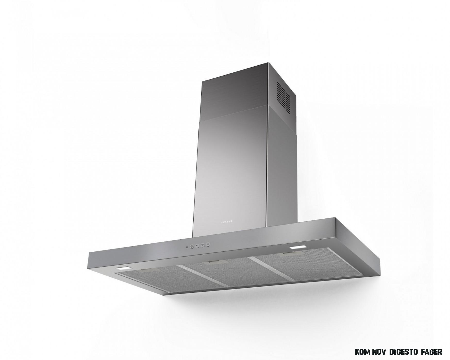 Komínová digestoř 10cm Faber Stilo Comfort X A10, nerez  Koupelny