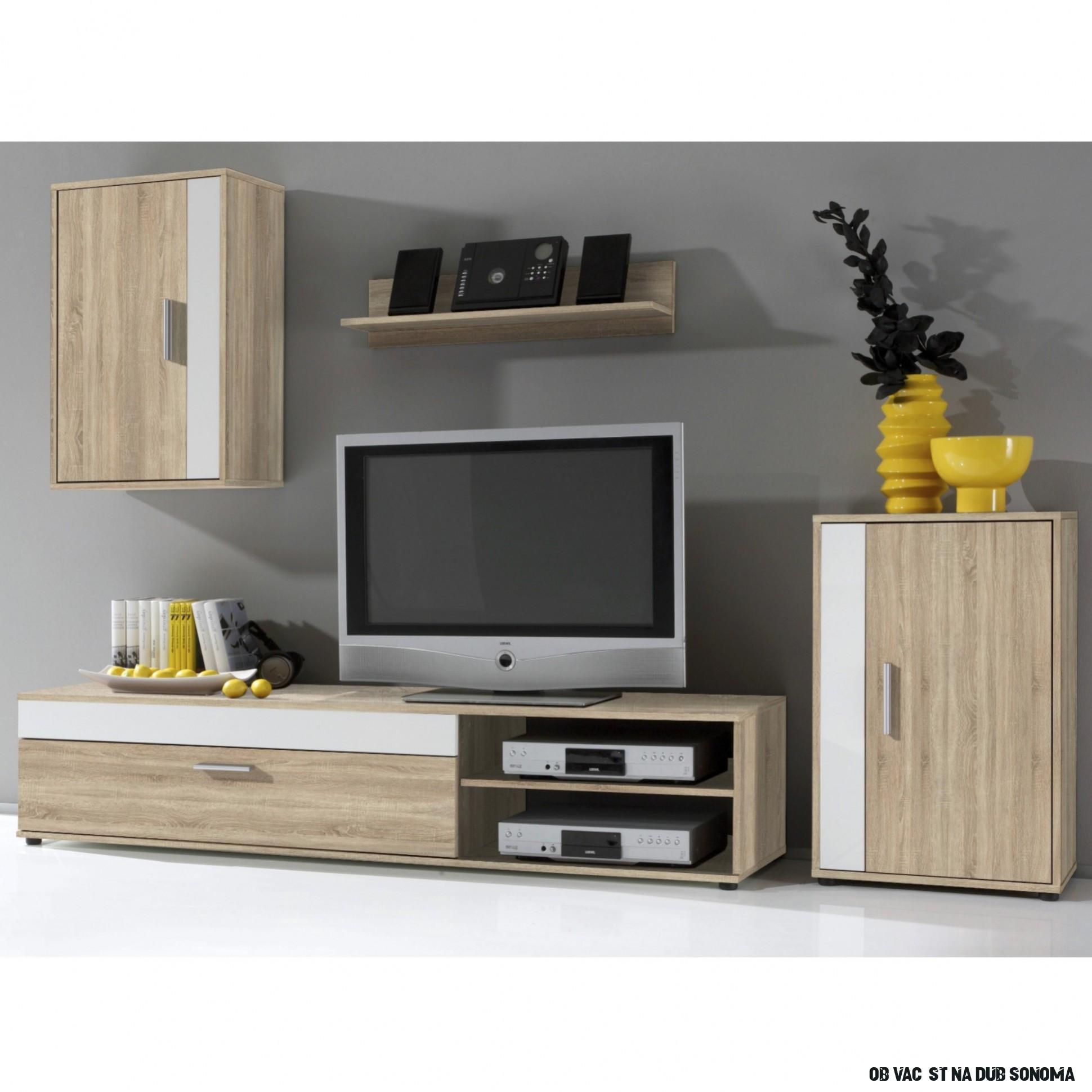 Obývací stěna SALE - dub sonoma/bílá