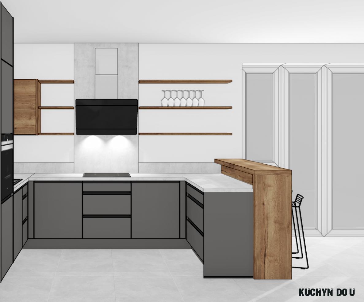 Kuchyně do U - Kuchyně cenové příklady
