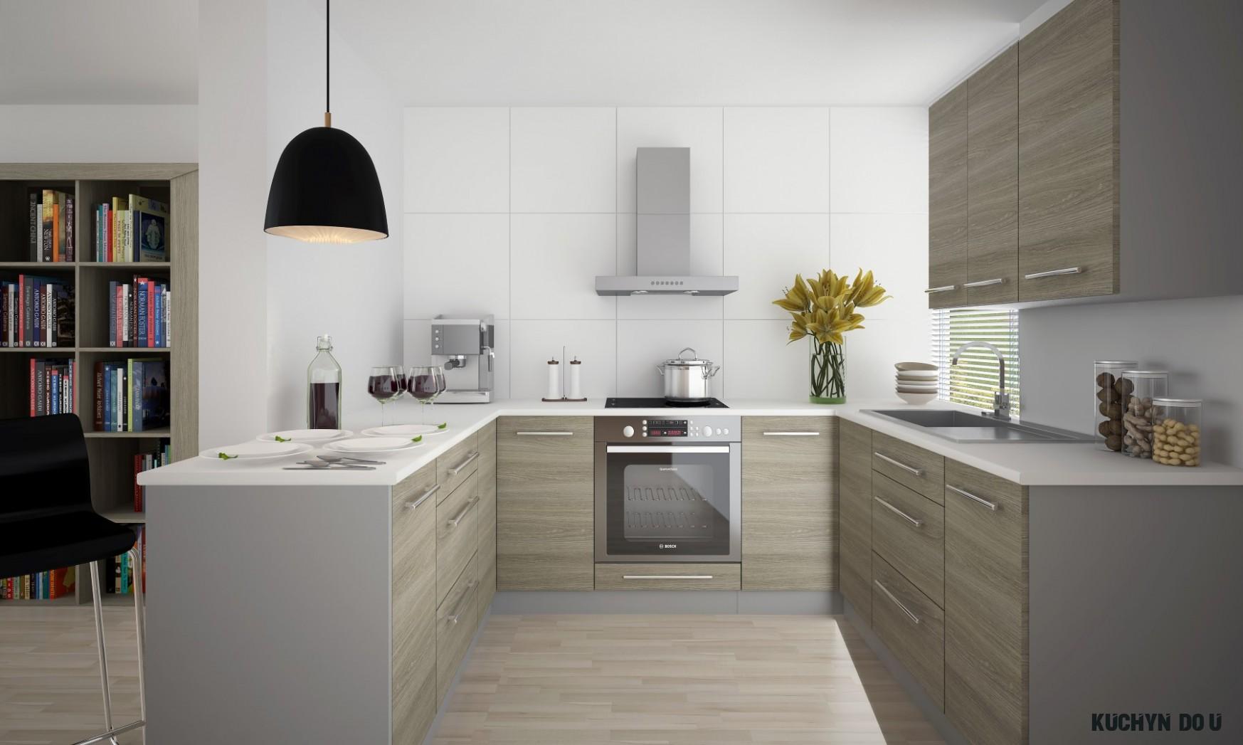 Kuchyně ve tvaru U Silver  Nábytek Sprint