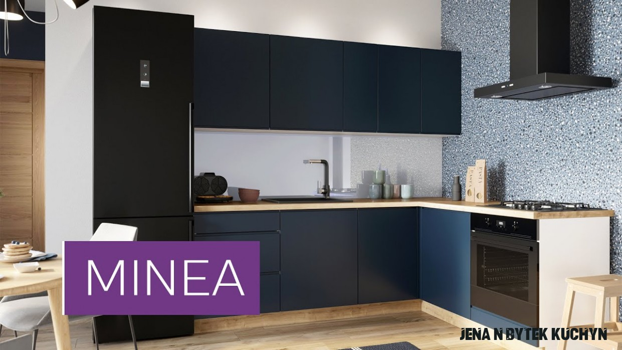 Kuchyně Minea 18 cm (modrá mat)