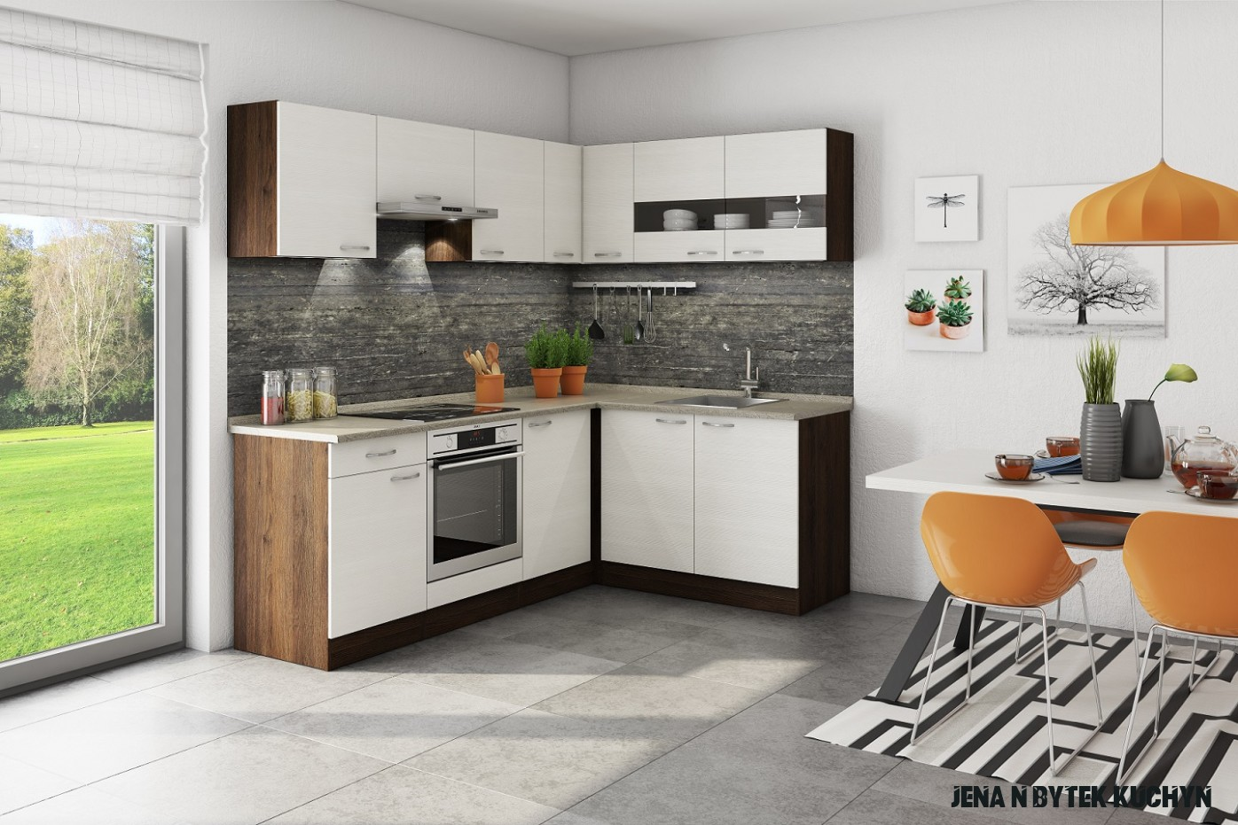 Nová kuchyň Nina v rodině pana Josefa  Jena nábytek