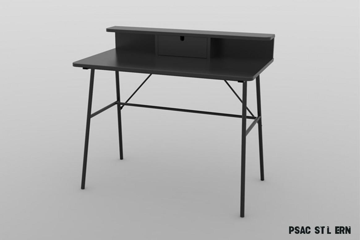 Designový psací stůl Nava 17 cm černý