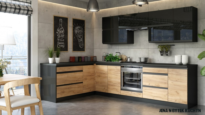 Rohová kuchyně Brick levý roh 18x18 cm - II. jakost