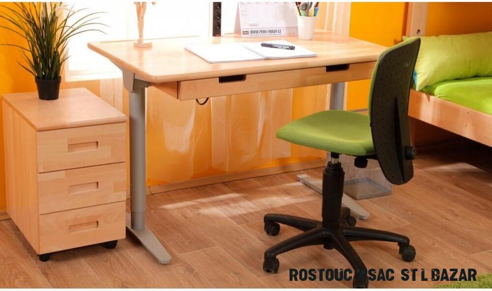 Sleva - Rostoucí psací stůl D15 Rostoucí psací stůl D1531, masiv buk