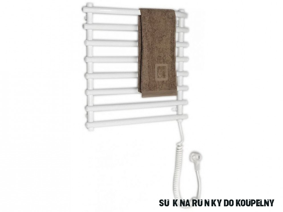 Aqualine Elektrický sušák ručníků, 15x15 mm, 15 W, bílý SU15A