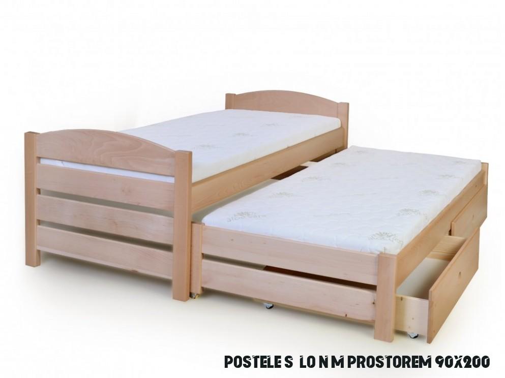 Rozkládací postel 11x11 s úložným prostorem