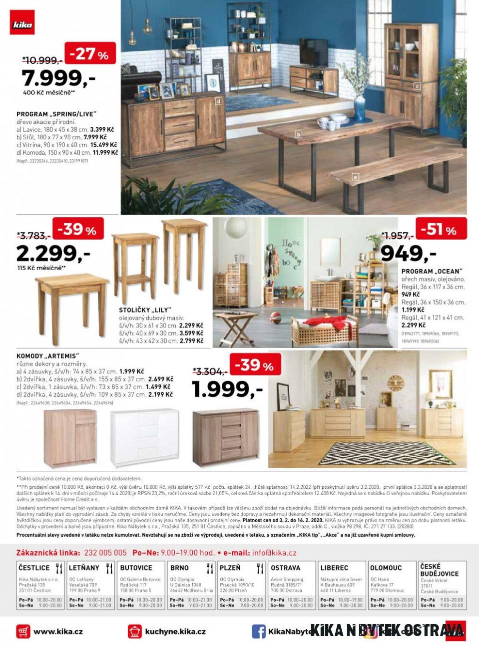 Stoličky Lily v akci Kika nábytek od 10.10.100100