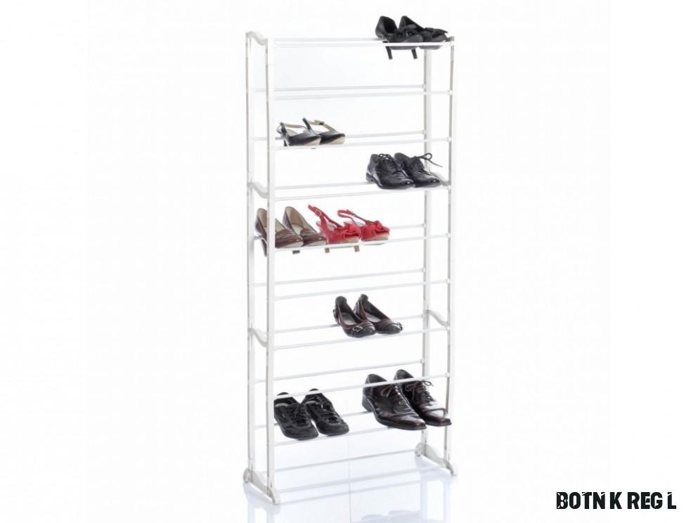 Police na boty, kovová police, police na obuv, kovový regál, botník, stojan  na boty, stojan na obuv, regál na boty, regál na obuv -18 úrovní, pro 18
