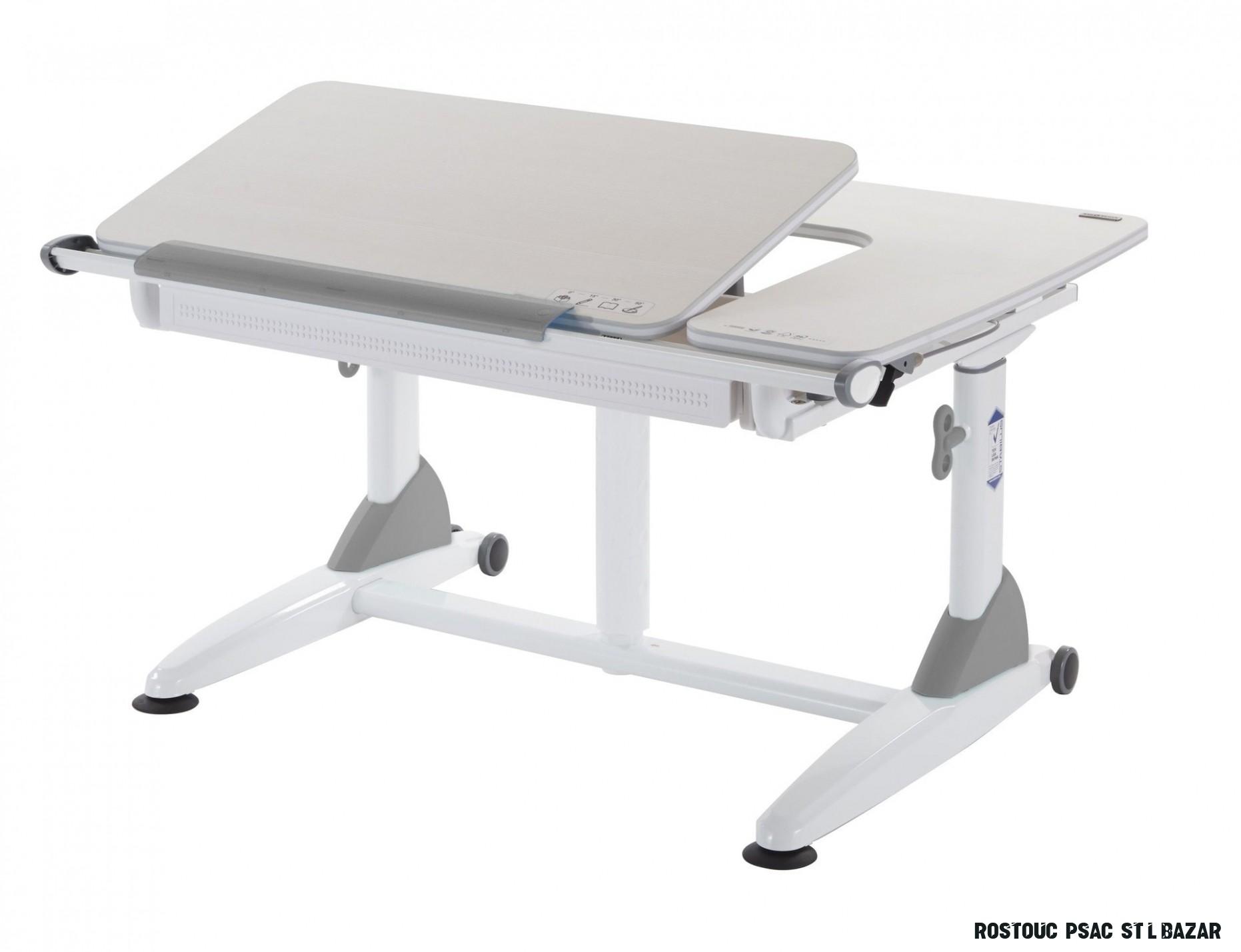 Rostoucí stůl Junior II - akácie / šedý