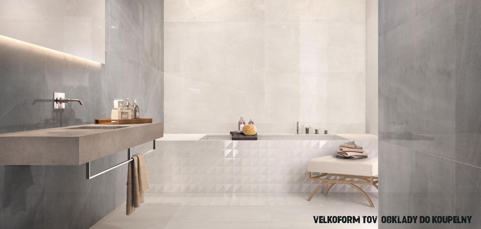 Velkoformátové obklady a dlažby do koupelny  M.B.Keramika