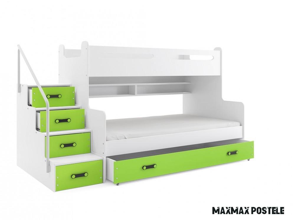 Patrová postel Max 18 bílá/zelená