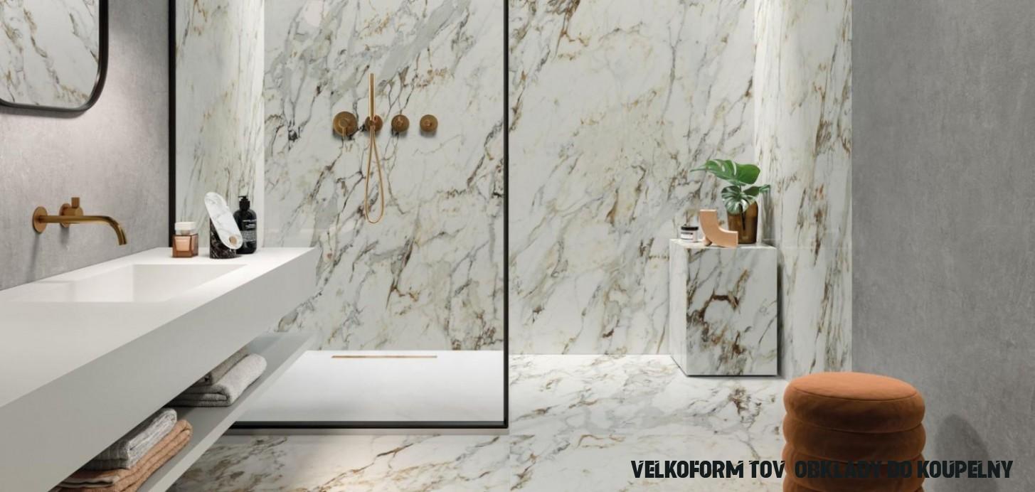 Velkoformátový obklad dodá luxusní a reprezentativní design