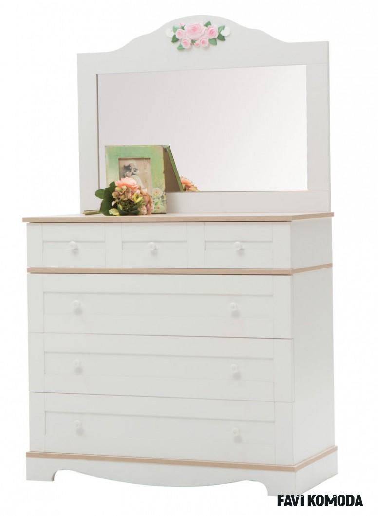 Sleva - Dětská komoda se zrcad Dětská komoda se zrcadlem, toaletní