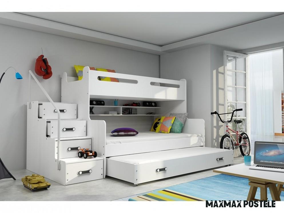 Detská poschodová posteľ Max 18 s prístelkou