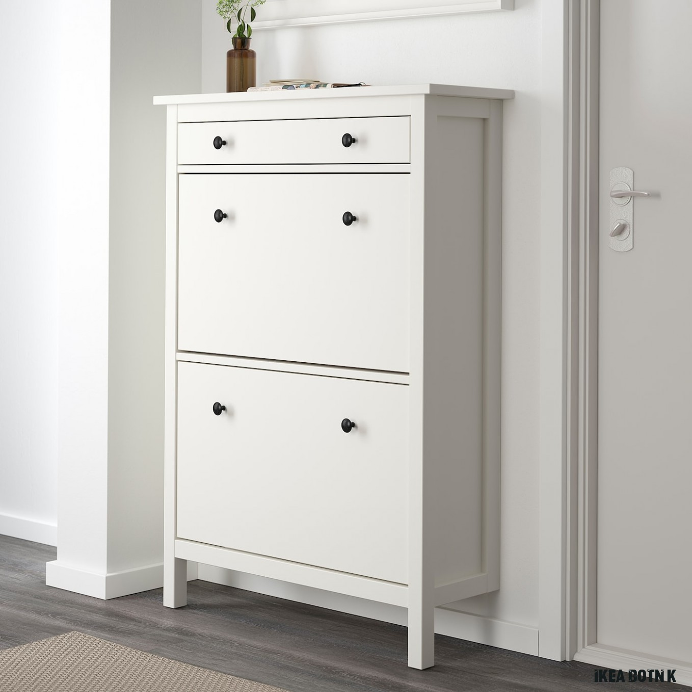 """HEMNES Shoe cabinet with 18 compartments - white 18x18 18/18x18 """""""