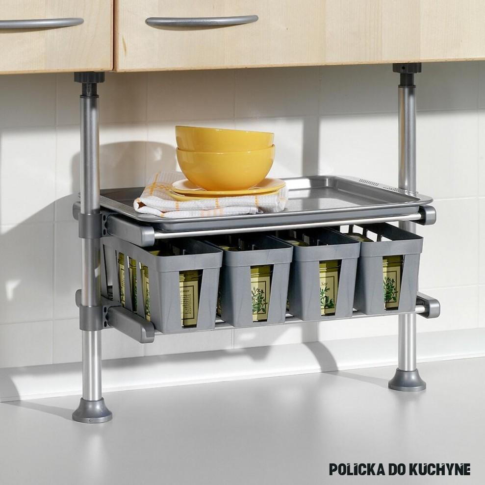 Teleskopická polička do kuchyně s boxy