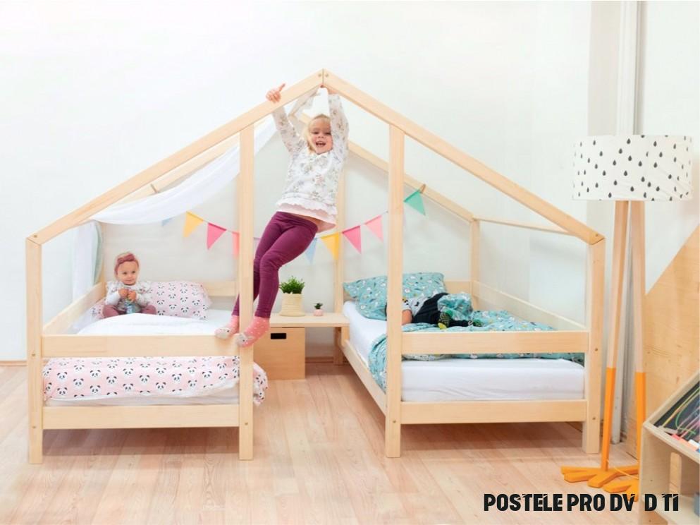 Domečková postel pro dvě děti VILLY - www.samostatne-dite.cz