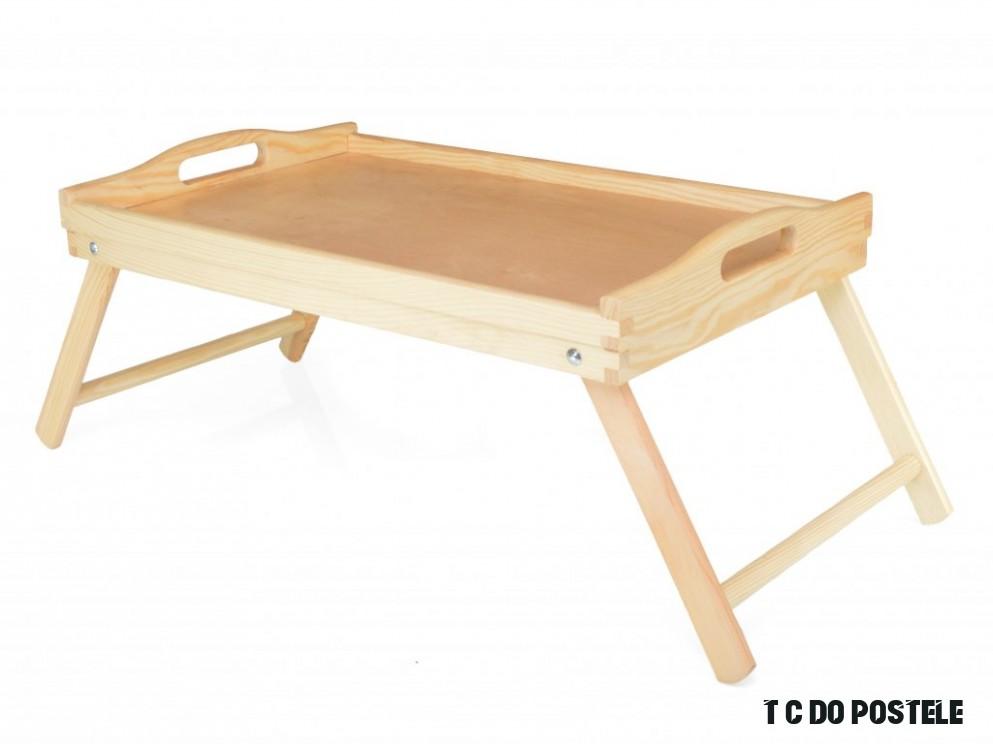 Dřevěný podnos do postele - stolek pod notebook. Dřevěný tác vhodný nejen  na homeoffice