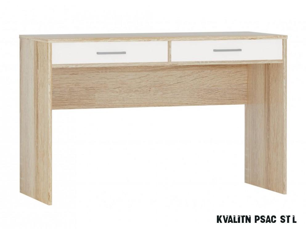 Psací stůl Stels sonoma / bílá - 18 x úložná zásuvka
