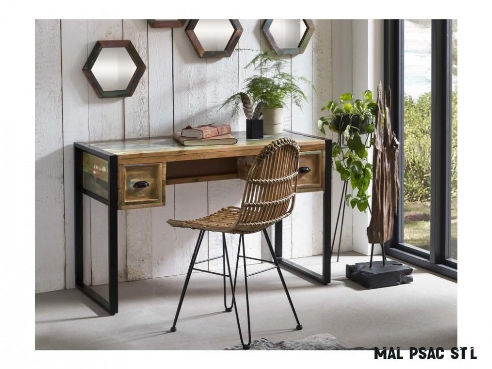 Malý designový psací stůl, masiv 13cm - MIFUE