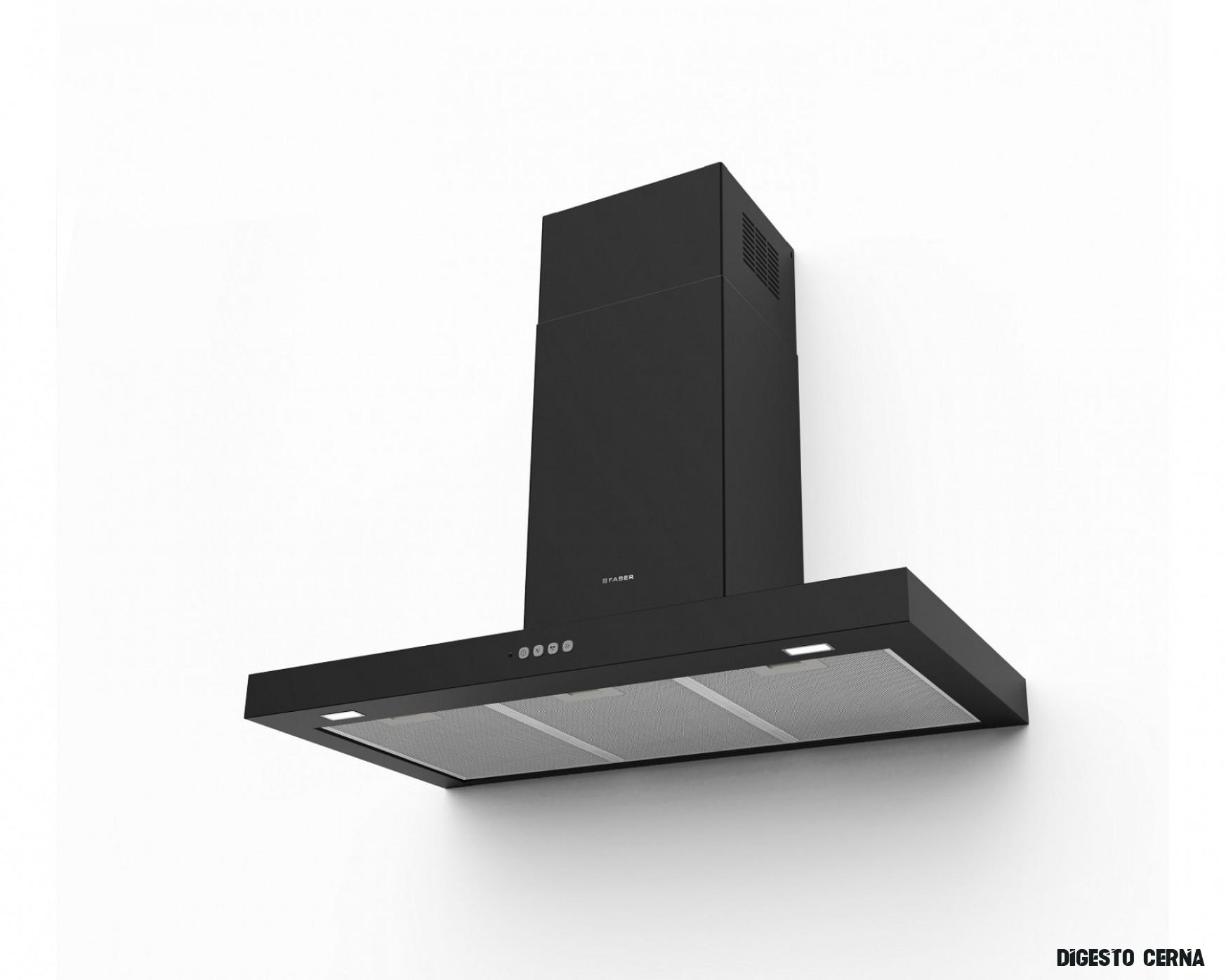 Komínová digestoř 11cm Faber Stilo Comfort BK MATT A11, černá mat