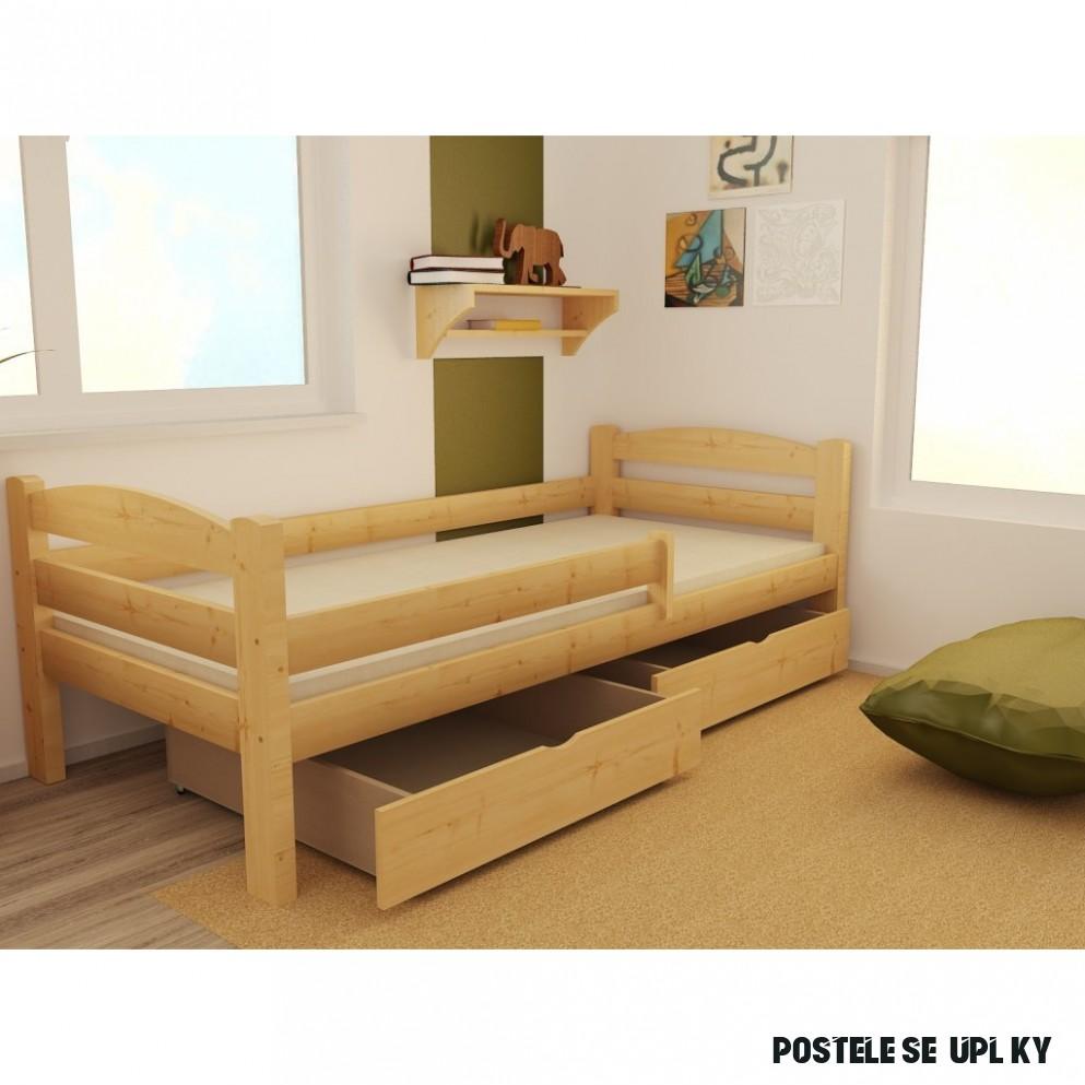 Dětská postel z MASIVU 8x8cm SE ŠUPLÍKY - DP8