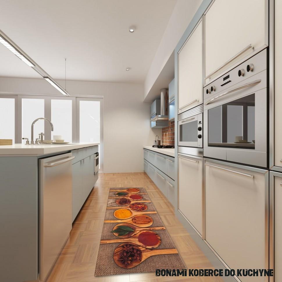 Vysokoodolný kuchynský koberec Floorita Spices, 5 × 5 cm
