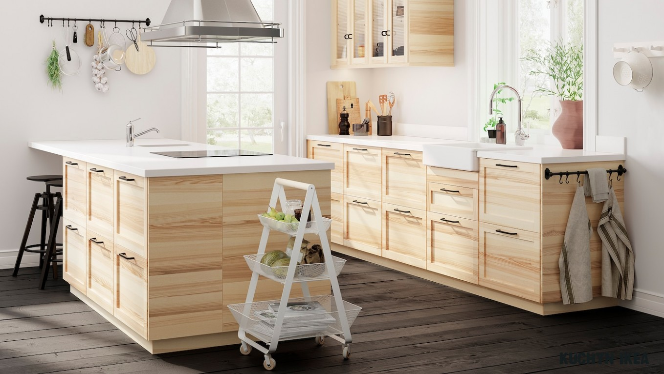A simple and functional TORHAMN natural ash kitchen - IKEA