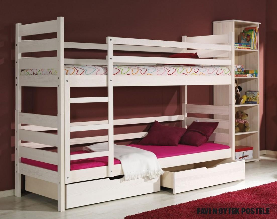 Dětská postel DAREK poschoďová  Pěkný Nábytek