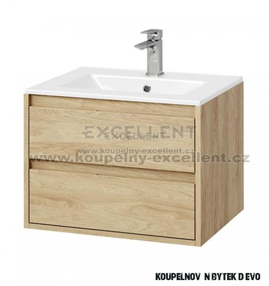 Koupelnový nábytek Tuto 13 cm dub/dub se dvěma zásuvkami, pro zápustné  umyvadlo AS