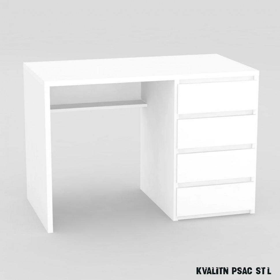 Moderní psací stůl bílý-pravé provedení