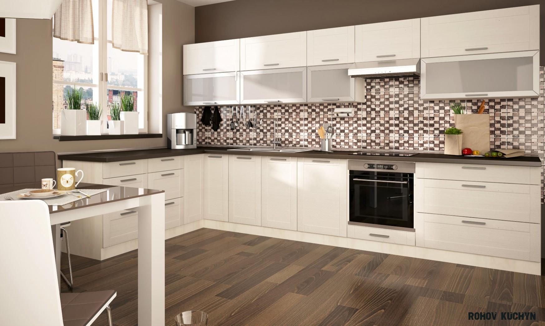Rohová kuchyně Titanium 14×14 cm  Nábytek Sprint