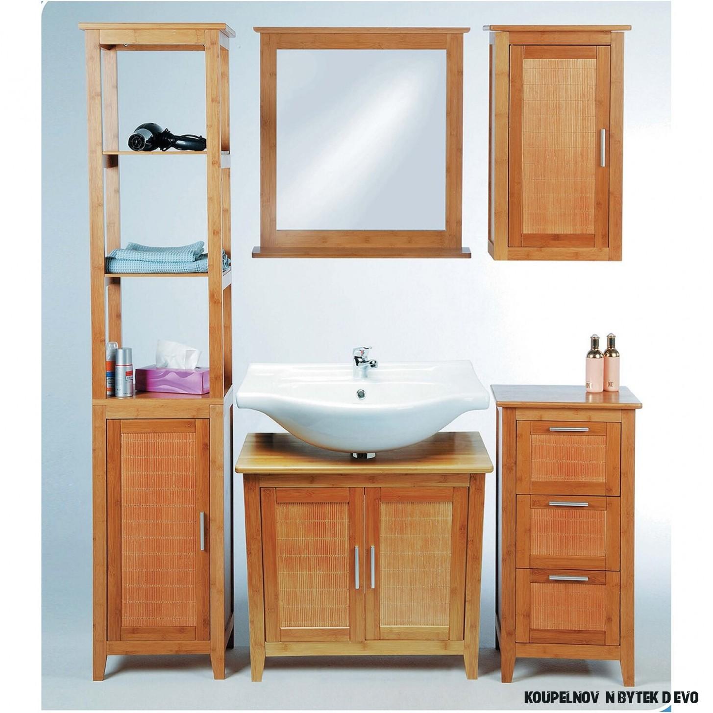 Eisl Koupelnová skříňka 13 zásuvky bambus