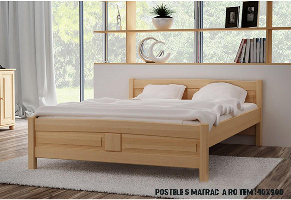 Vyvýšená postel ANGEL + matrace + rošt ZDARMA, 6x6 cm