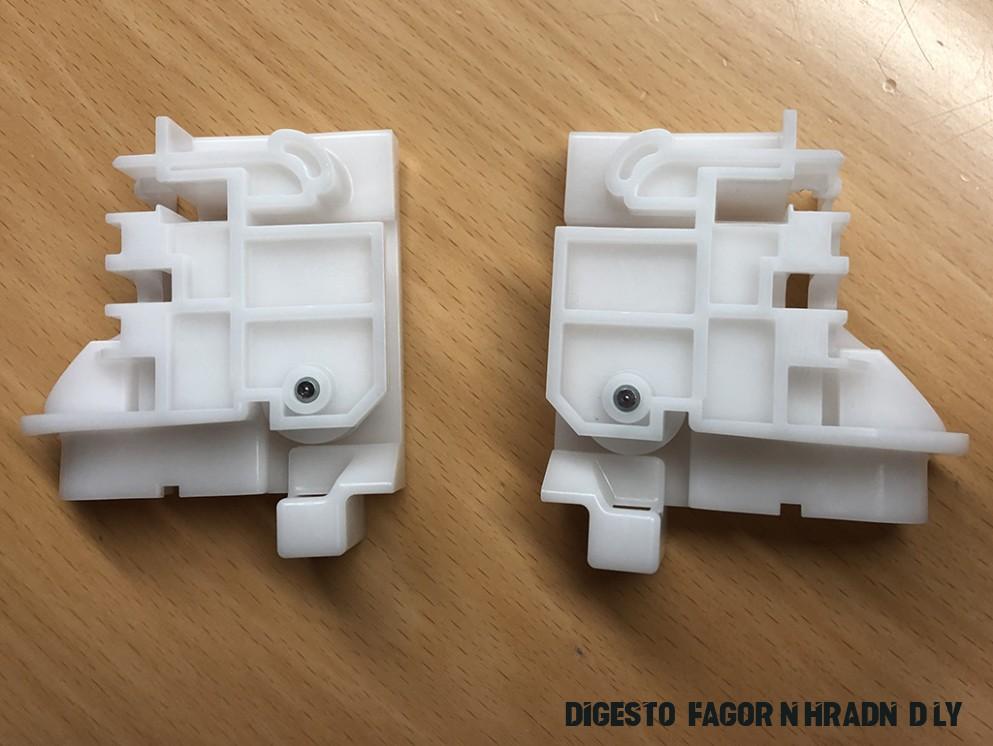 Vodítka závěsu pravá+levá strana sada myčky Fagor náhrada  VF166B166I16,VF166B166J16