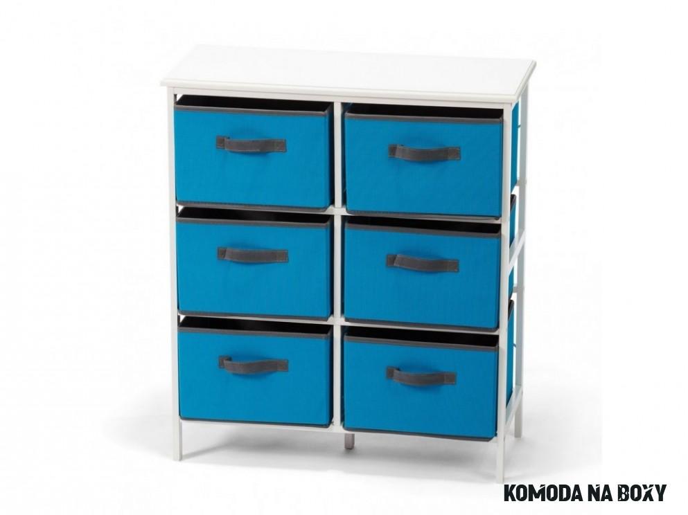 Komoda DT14 14 boxů modrá