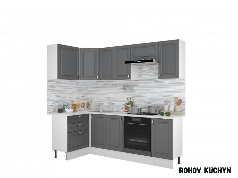 Rohová kuchyně LANA šedá 14x14