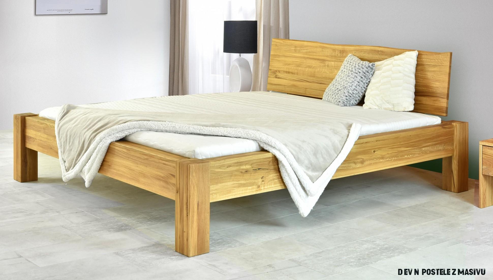 Dubová manželská postel v luxusním provedení