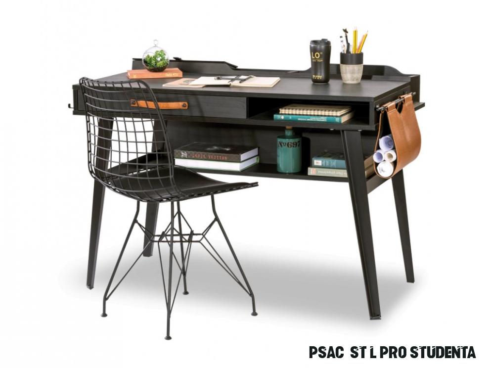 Studentský psací stůl menší Dark Metal