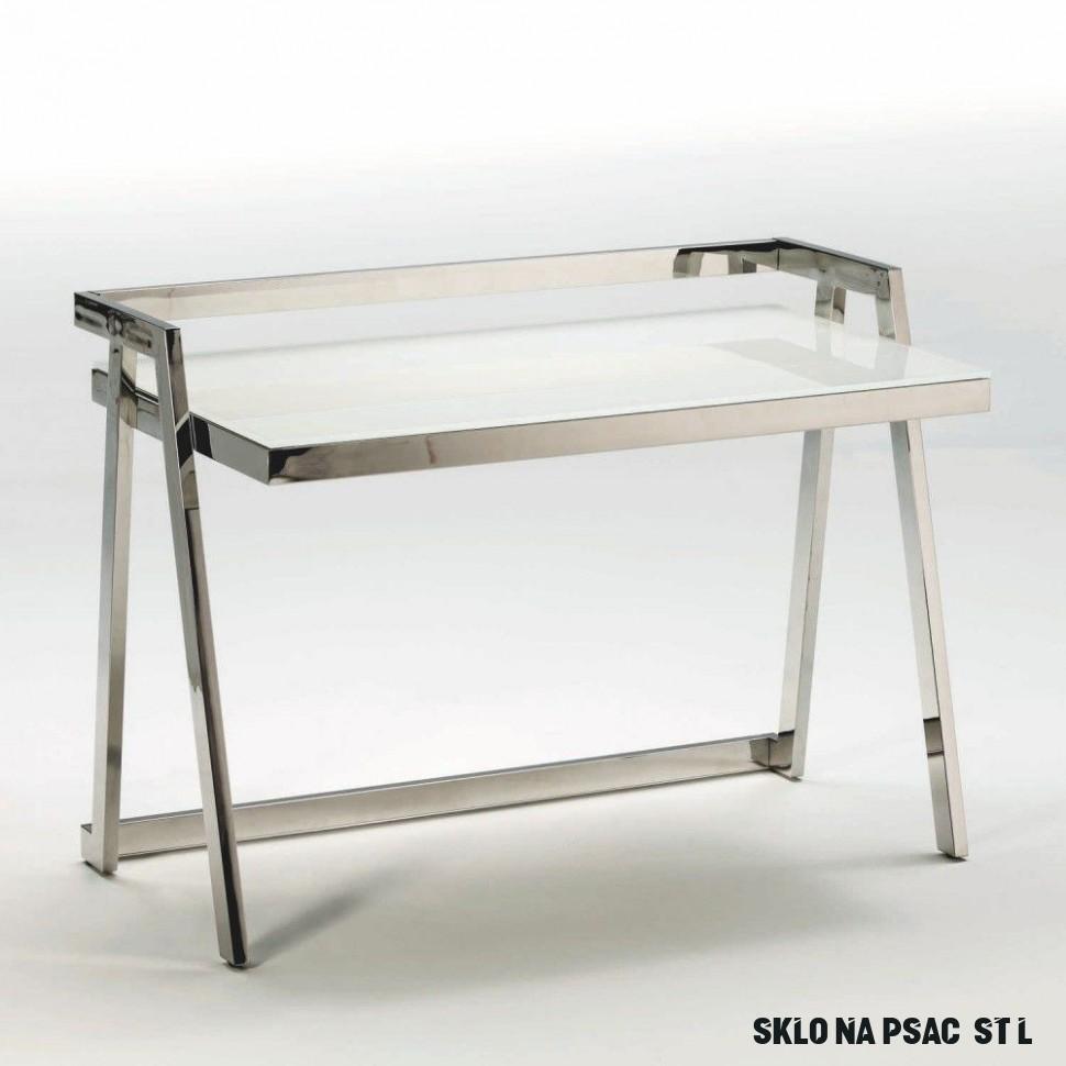 Pracovní stůl ze skla a kovu Thai Natura Excel, 13 x 13 cm