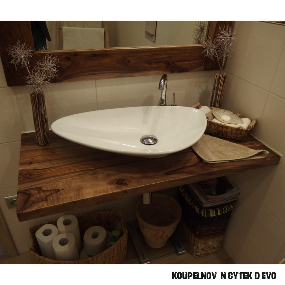 Polo - koupelnový nábytek z masivu palisandru nebo dřeva dle