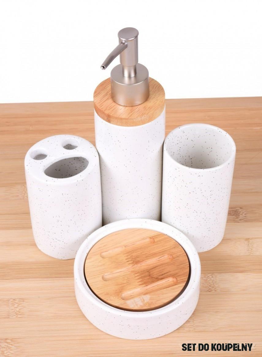 13 dílná keramická souprava s bambusem do koupelny GoEco®